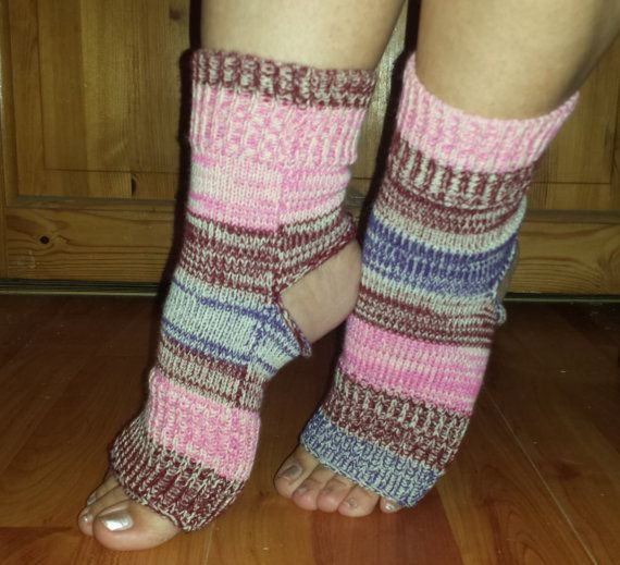 YOGA Socks Knitted Toe Heel Less Socks PiYo Socks by BareWolfSocks