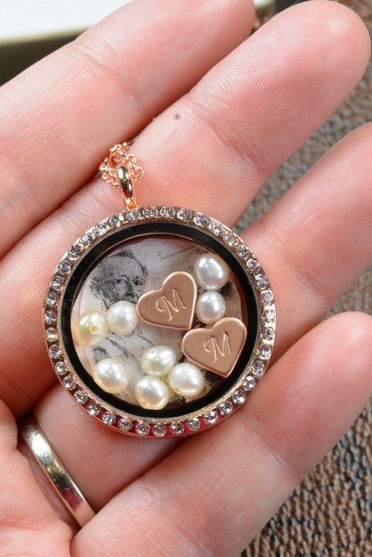 Mothers day necklace ,rose gold jewelry ,Floating glass locket,Grandmother Necklace,Birthstone Necklace,Grandmother Jewelry, Grandma gifts on Etsy, $39.99