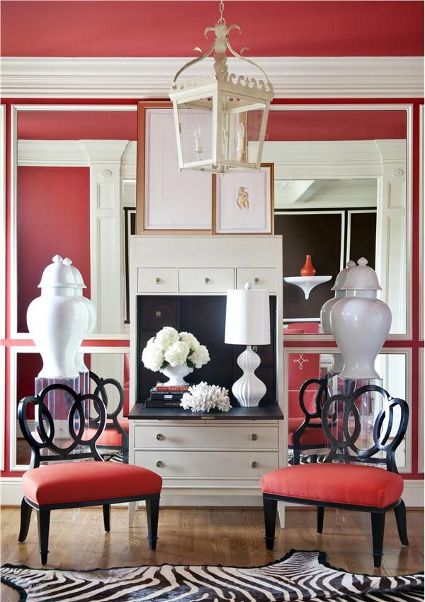 22 best Red Rooms images on Pinterest | Red rooms, Red dining ...
