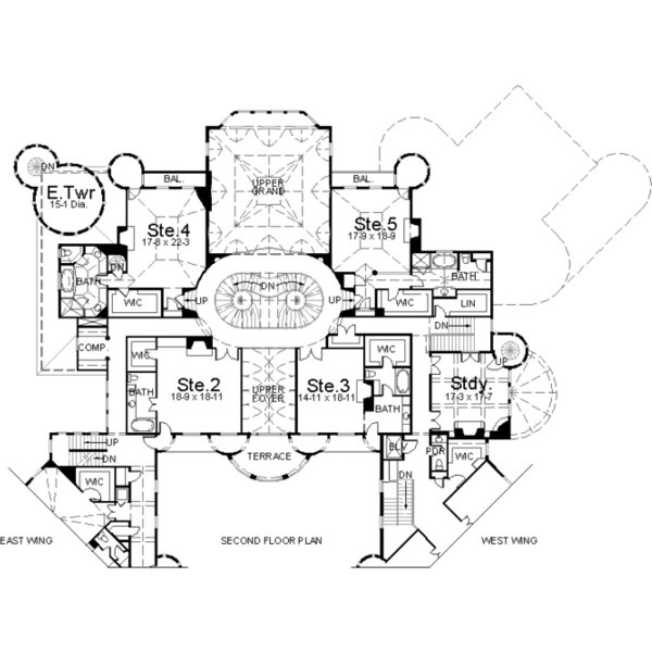 balmoral house plan 6 story 22188 square foot 12 bedroom