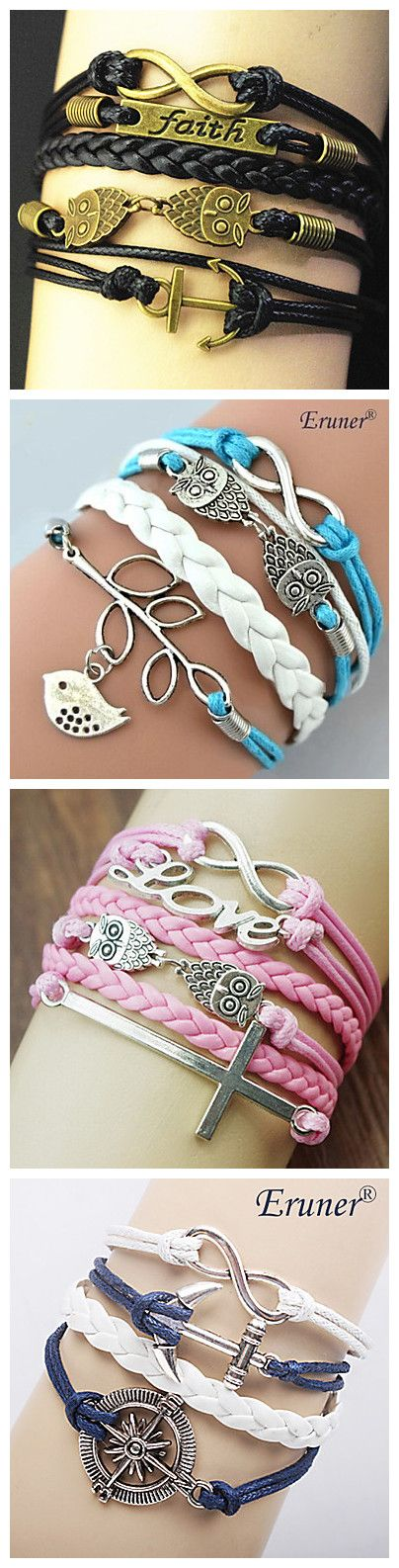 Handmade bracelets with different colors. This unique design could perfectly match your summer. Get your favorite one!