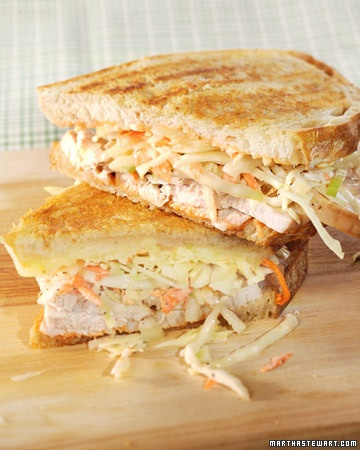 The Rachel Sandwich - This signature sandwich recipe pairs turkey breast, coleslaw, and Russian dressing.