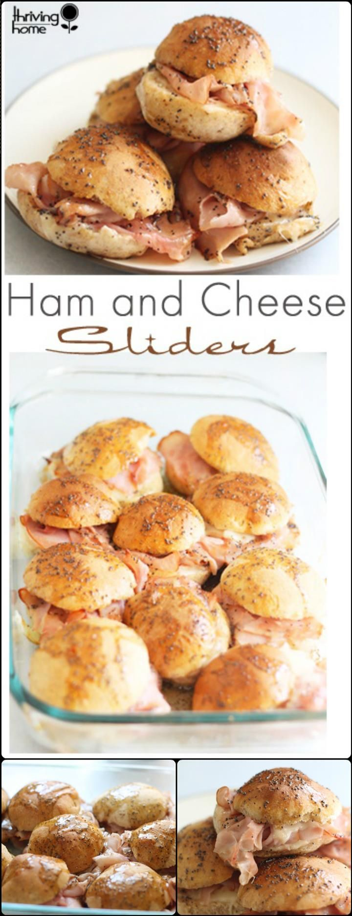Ham and Cheese Sliders – Easy Crowd Appetizer - 25 Recipes for Large Groups on a Budget