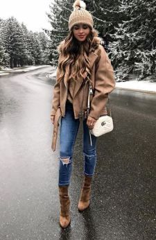 40 Wintermode 2018 Outfits zu kopieren # winterfashion2018 # winter2018 #winter