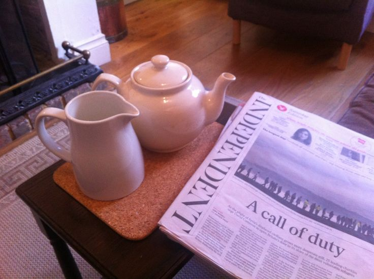 a pot of tea and the Saturday papers