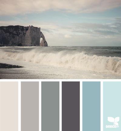 sea tones--light gray for bathroom and dark gray for bedroom