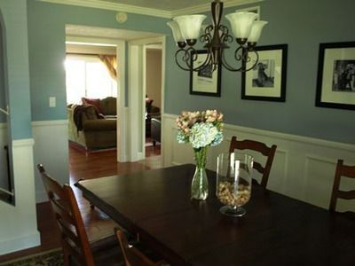 beadboard in dining room | Dining room beadboard | For The Home | Pinterest