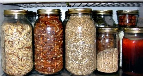 I'm on a fridge organization kick. I use mason jars for dry goods, art supplies, rocks and fossils, clothespins, etc. Why did I not think of putting them in the fridge? Duh!
