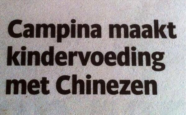 kindervoeding met chinezen