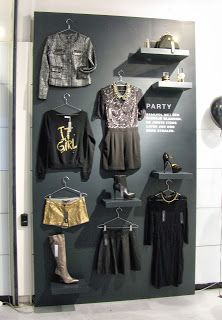 view on retail-Might be cool to make a outfit wall like this since we will have so many one of a kind pieces.