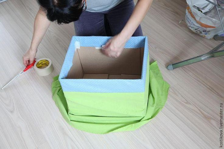 Декоративная коробка для хранения тканей
