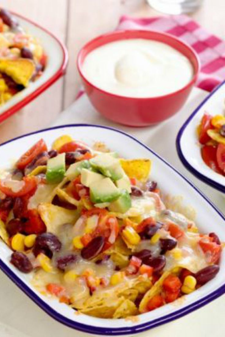 This nacho recipe is easy and HEALTHY! Serve it up in individual dishes to make it extra fun.