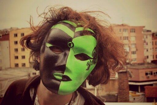 UV neon psychdelic mask