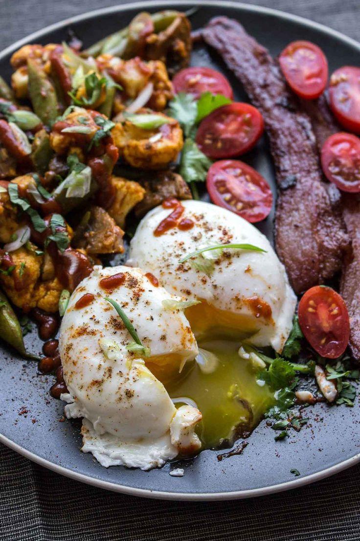 Pan Poached Eggs & Roasted Vegetable Masala (paleo Breakfast)