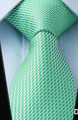 Stripe PLAID NECKTIES Dot Gravata Check Brand 100% Silk Jacquard Woven Classic Man's Tie Necktie