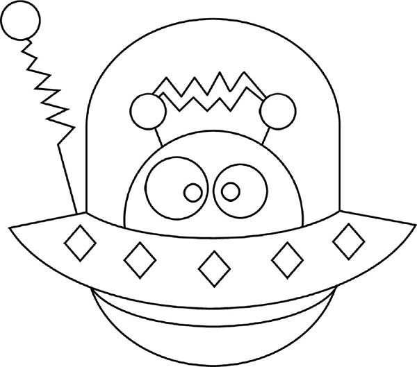 alien hide in spaceship coloring page - Spaceship Coloring Pages Print