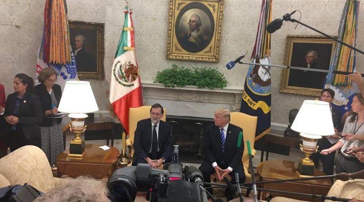 La Casa Blanca pone por error la bandera mexicana en la recepción a Rajoy