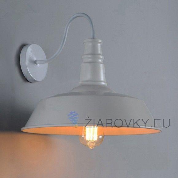 Historické nástenné svietidlo v štýle bieleho taniera na žiarovky typu E27 je svietidlo určené na stenu v rustikálnom vzhľade