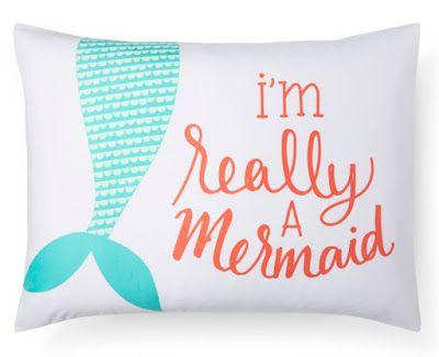 Mermaid pillow   Pillowfort exclusive to Target childrens bedding via Print & Pattern