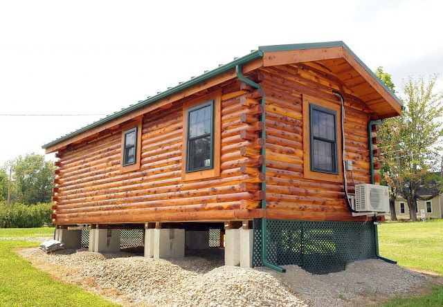 Cambridge Log Cabin (360 Sq Ft) - TINY HOUSE TOWN