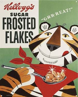 Tony the Tiger: Frostings Flakes, Sugar Frostings, They R, Kellogg Frostings, Vintage Observed, Cereal Boxes, Vintage Ads, Corn Flakes, Frosted Flakes