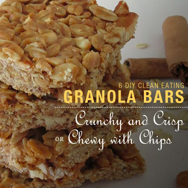 6 DIY Granola Bars that are even more delicious than the boxed version.