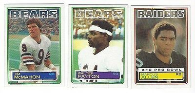 1983 Topps Football Complete 396 Card Set Marcus Allen Mike Singletary Rookies