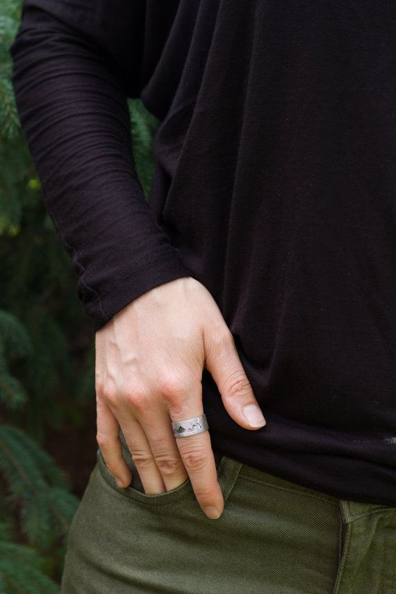 Size 8 Ready to Ship Sterling Silver Mountain by ScenicRouteCo