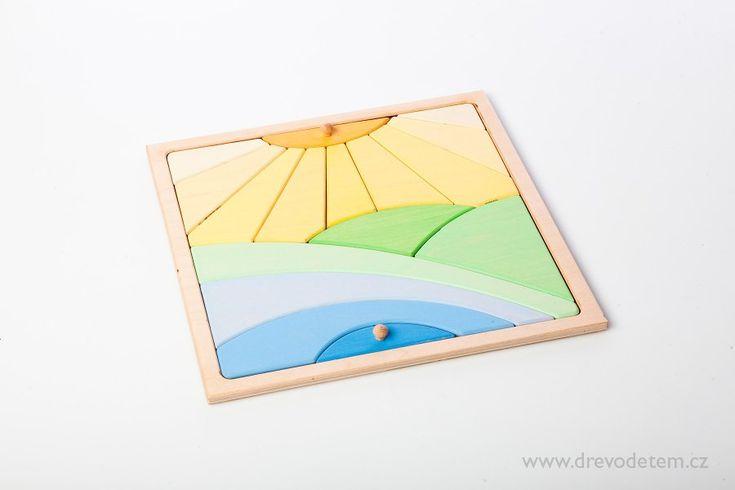 Didaktické skládačky | Puzzle slunce | www.drevodetem.cz