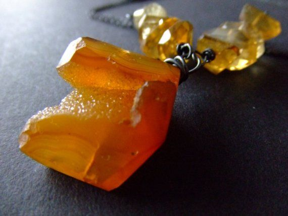 SALE. o sol beijou. sun kissed druzy and citrine by BeijoFlor