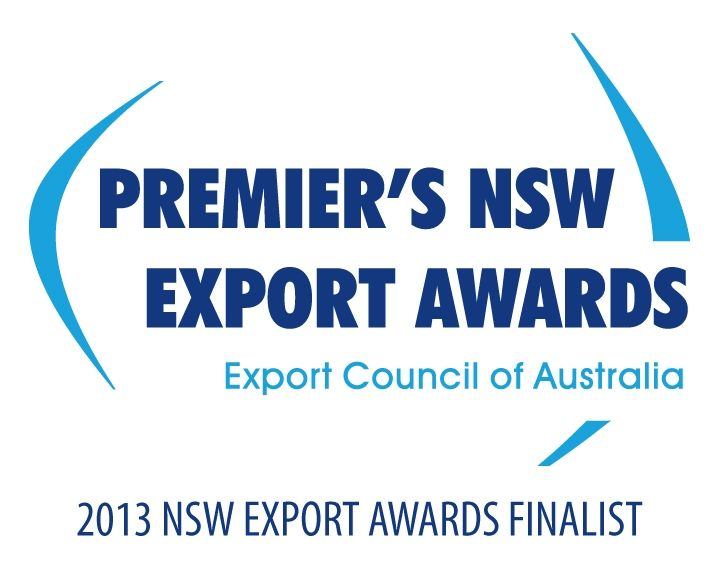 We've been nominated as a Finalist in the 2013 NSW Export Awards!