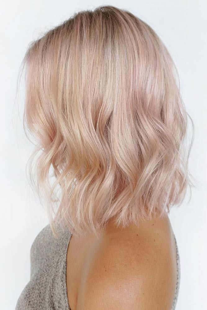 Hair Color 2017 2018 Champagne Pink Tint Pinkhair Bob Want