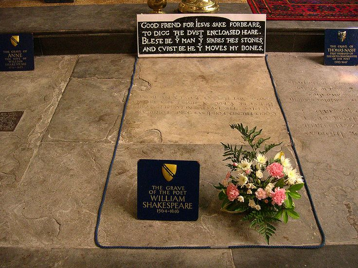 grave of William Shakespeare in the Holy Trinity church - England