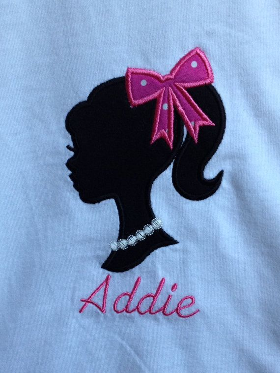 Personalized Barbie Silhouette Shirt Silhouettes