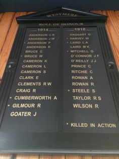 Westmere School Roll of Honour -  Historypin | Walking with an Anzac
