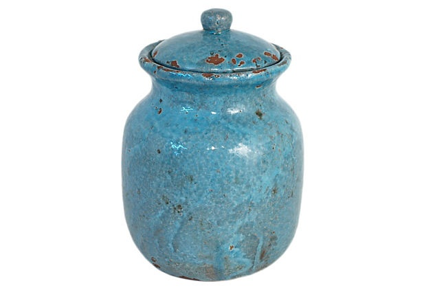 Turquiose Glazed Heirloom Jar