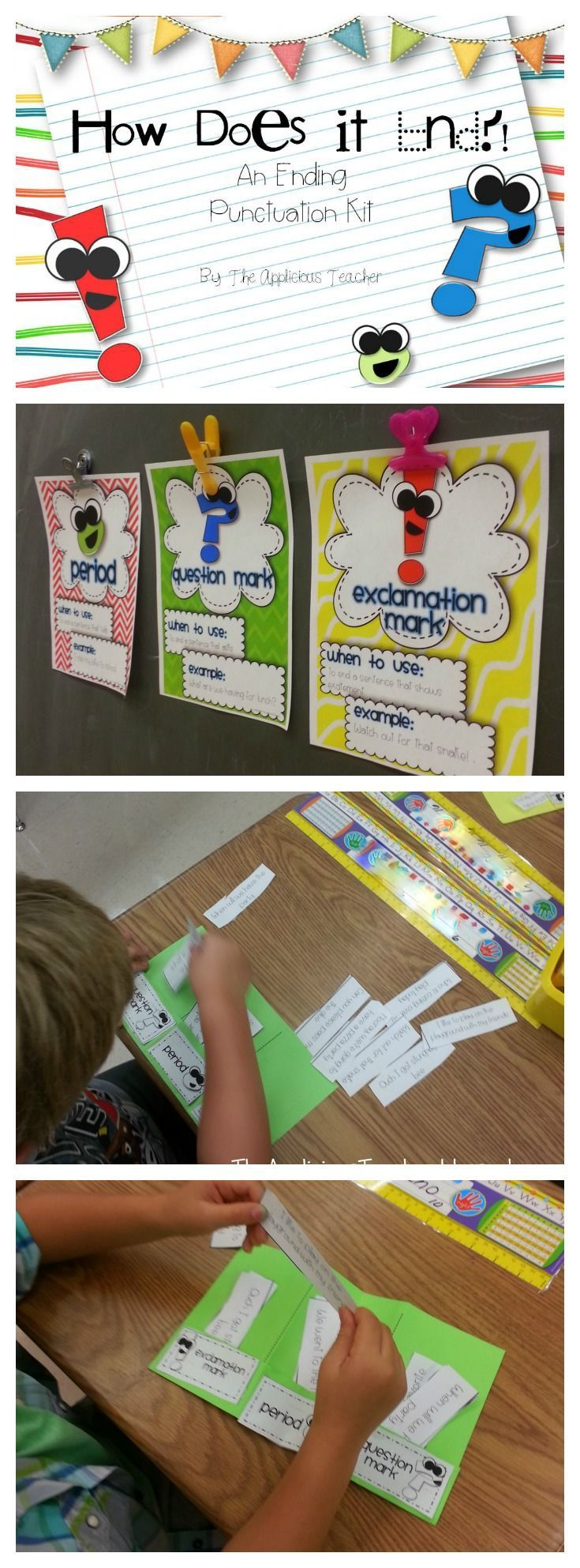 Teaching ending punctuation. Perfect reminder for the beginning of the year. So many engaging activities in this post!