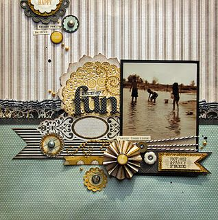 .Scrapbook Ideas, Scrapbook Layouts, Scrapbook Inspiration, Beach Fun, Nooks Projects, Colors Schemes, Nicole Nowosad, Summer Fun, Scrapbook Pages
