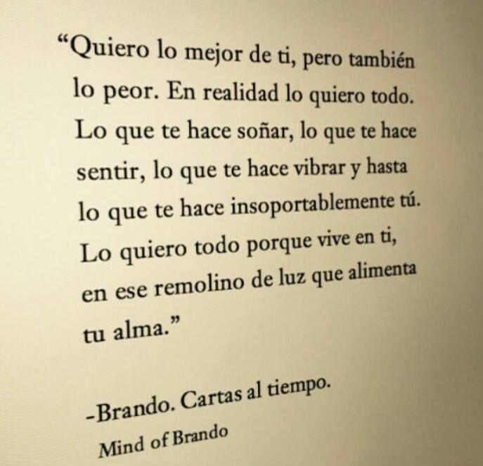- Brando. Cartas al tiempo.