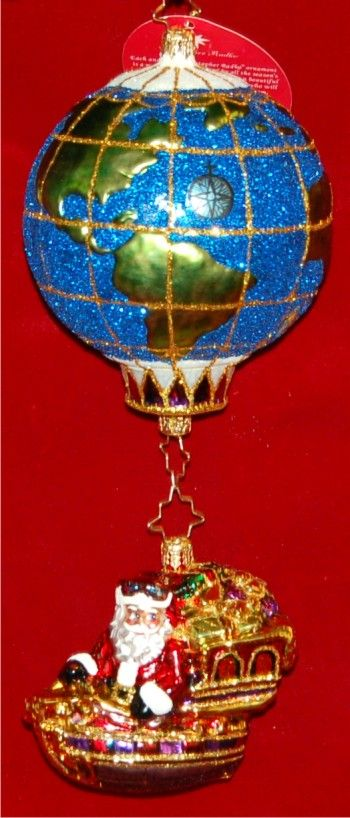 World Traveler Radko Ornament