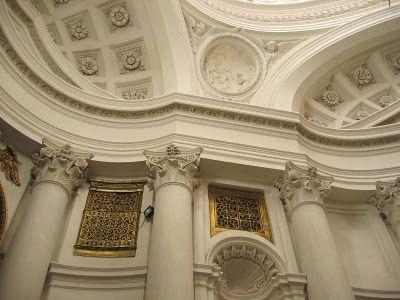 Detalles de la  IGLESIA DE SAN CARLO DE LAS CUATRO FUENTES - Roma (Italia) Arquitecto: Francesco Borromini