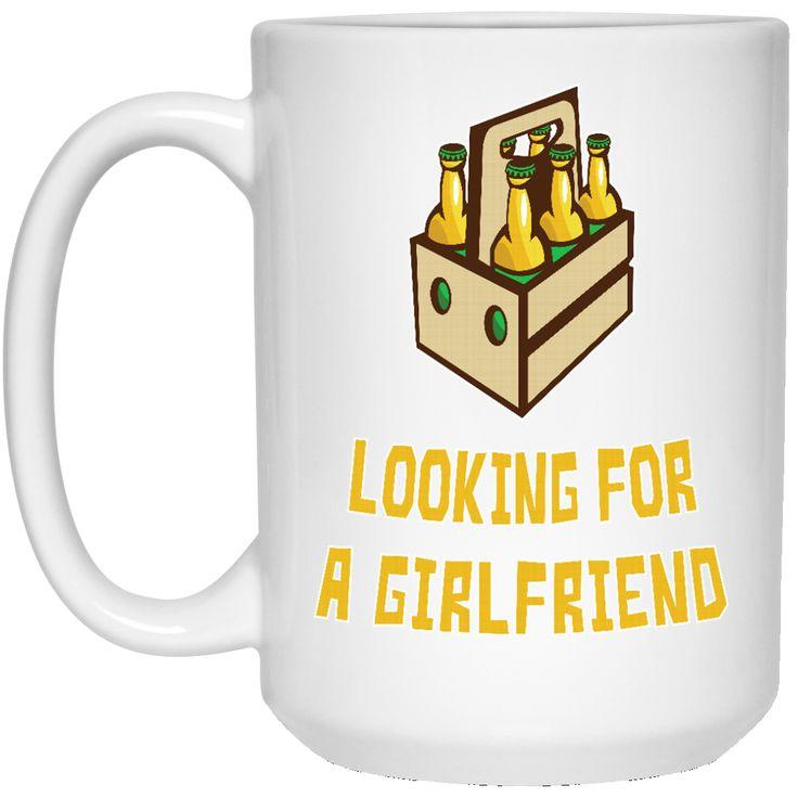 6 PACKS LOOKING FOR A GIRLFRIEND 21504 15 oz. White Mug