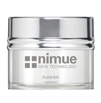 :: Nimue Skin Technology ::  Purifier  A skin-clarifying day or night formula for the control of excessive oilyness in problematic skin types. Contains Alpha Hydroxy Acids, Tea Tree oil and Vitamin A & C Ester.  Controls infection. Assists in exfoliation to decongest pores. Prevents further development of the acne condition and subsequent scarring. Helps regulate sebaceous activity and reduce surface oil. Maintains skin hydration.