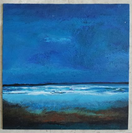 The Deep Blue, 2012. Acrylic on canvas. By Sophia Yong