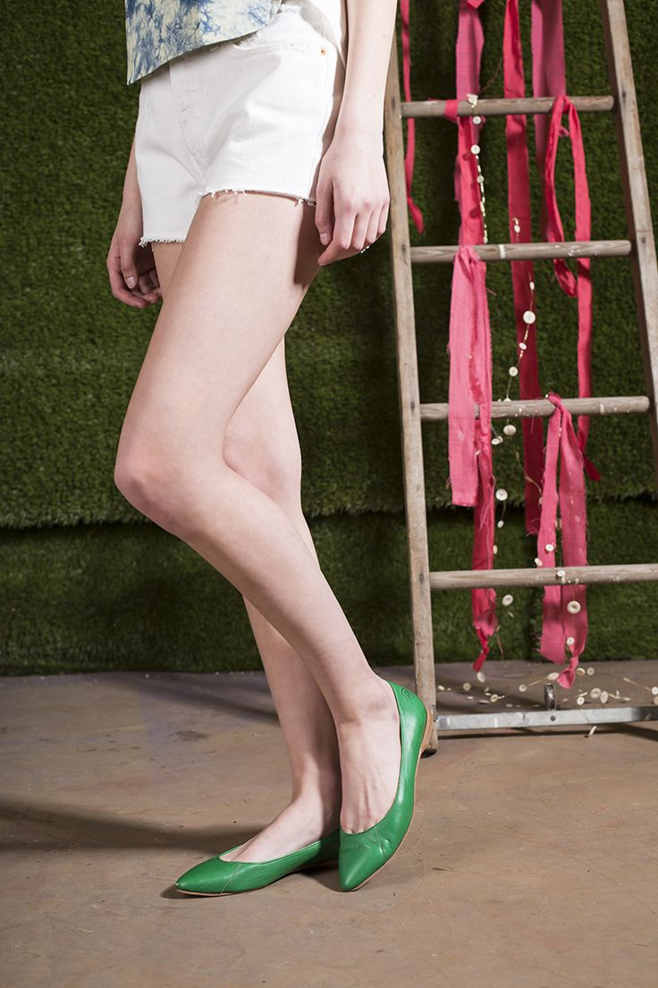 Poppy Barley Shoes: Limited Edition Collection 01. Green With Envy Classic Point. Custom fit, ethically made.