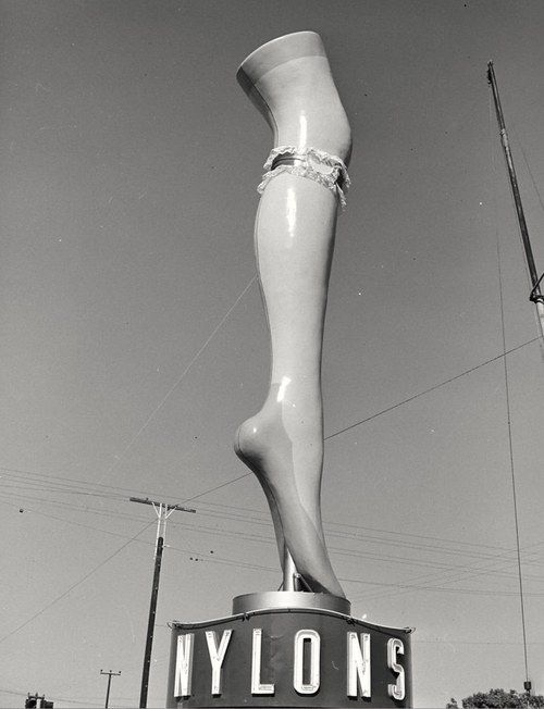 Nylons figural sign