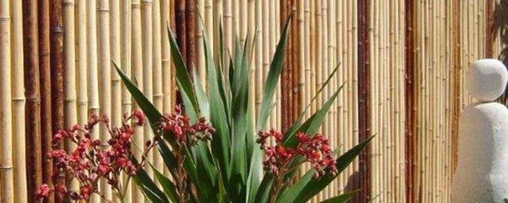 Jati Striped Bamboo Screens #BamboScreens #BambooFencing #Fencing #Natural