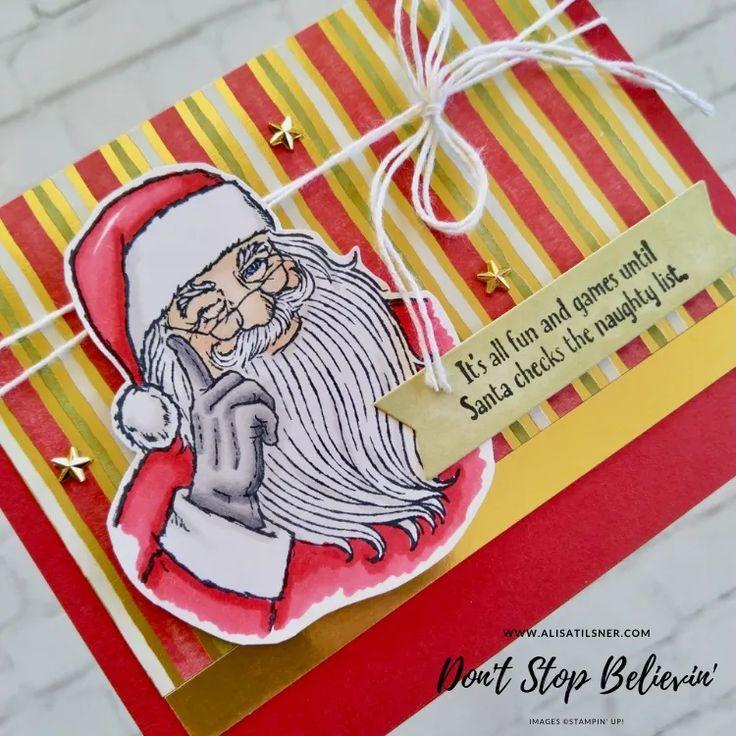 Don't Stop Believin' Santa Card Alisa Tilsner in 2020