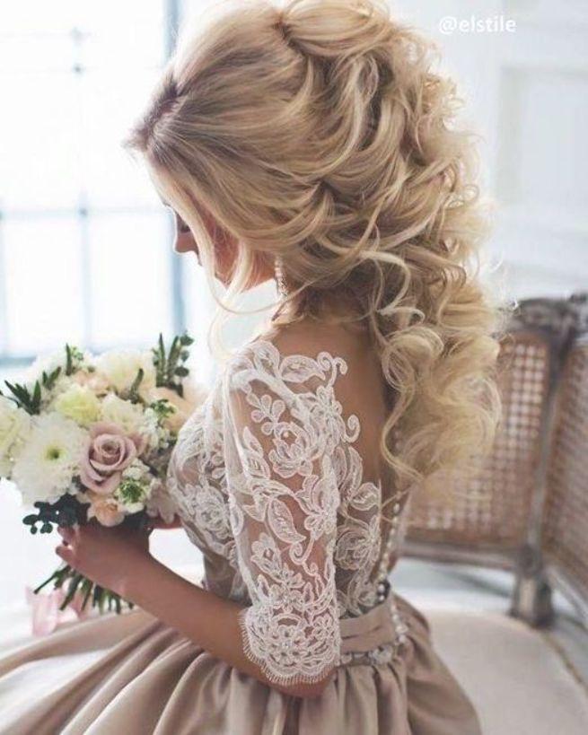 Chariming A-Linie Halbarm Champagner Brautkleider Brautkleider · dressydances · Online-Shop Powered by Storenvy #longhairstyles