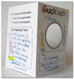 Guckloch: Bildungsserver--cool idea for book report